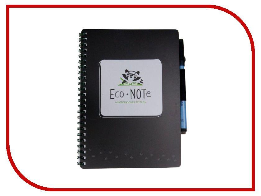 Канцелярский набор Многоразовая тетрадь EcoNOTe A5 Black ECM-01