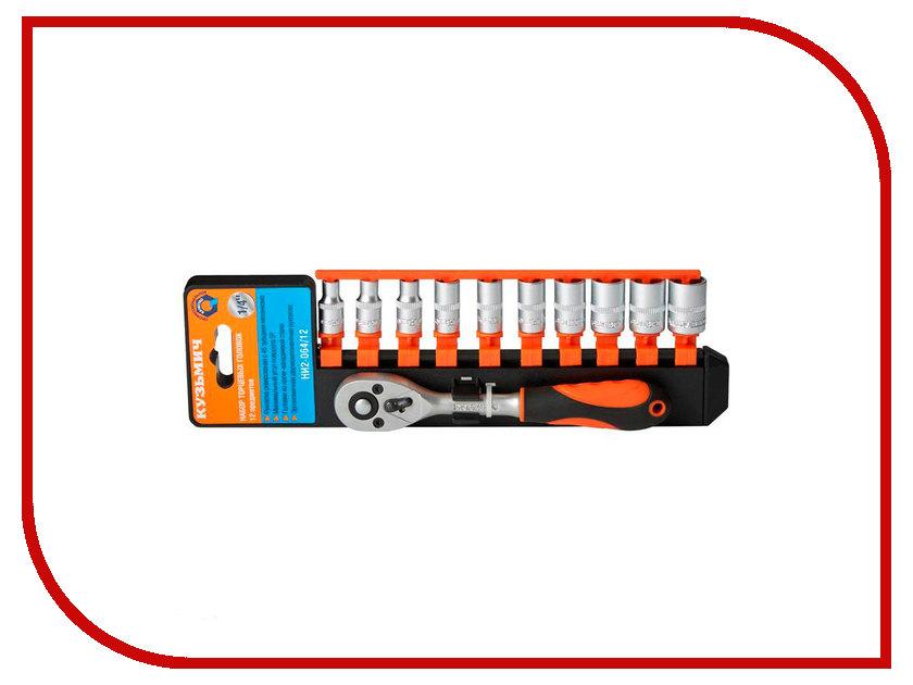 Ключ Кузьмич НИ2-064/12 Набор головок торцевых набор ключей кузьмич