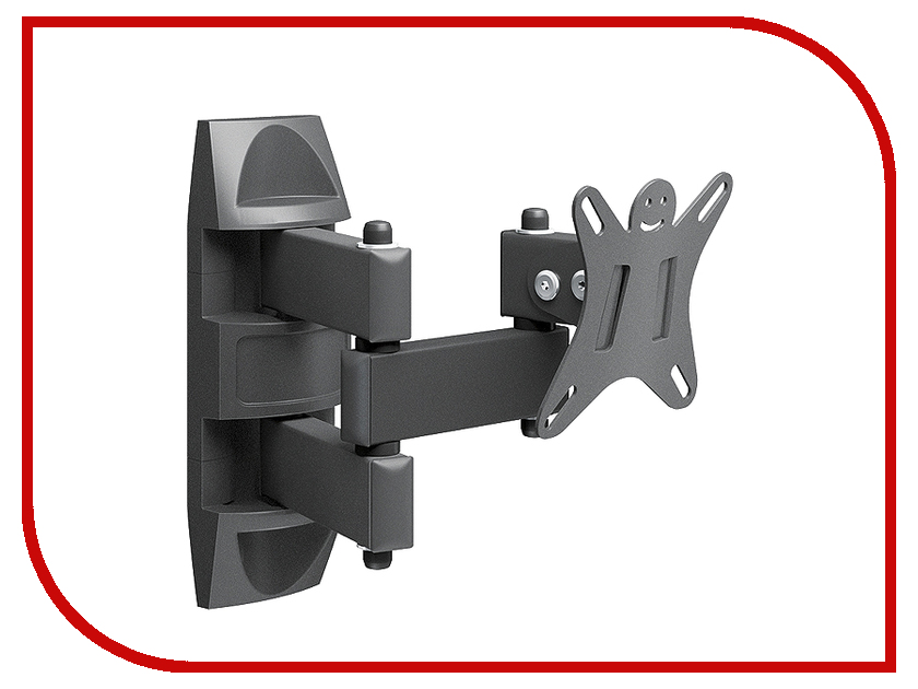 Кронштейн Holder LCDS-5039 (до 25кг) Metallic кронштейн holder lcds 5002 vesa 75 100 до 25кг накл черн для телевизора