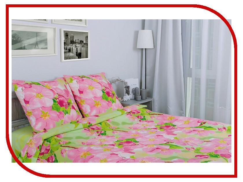 Постельное белье Этель Яблоневый цвет Комплект 1.5 спальный Поплин 1154329