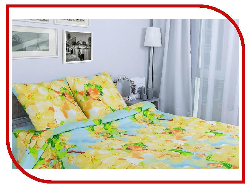 Постельное белье Этель Яблоневый цвет вид 2 Комплект 1.5 спальный Поплин 1154328