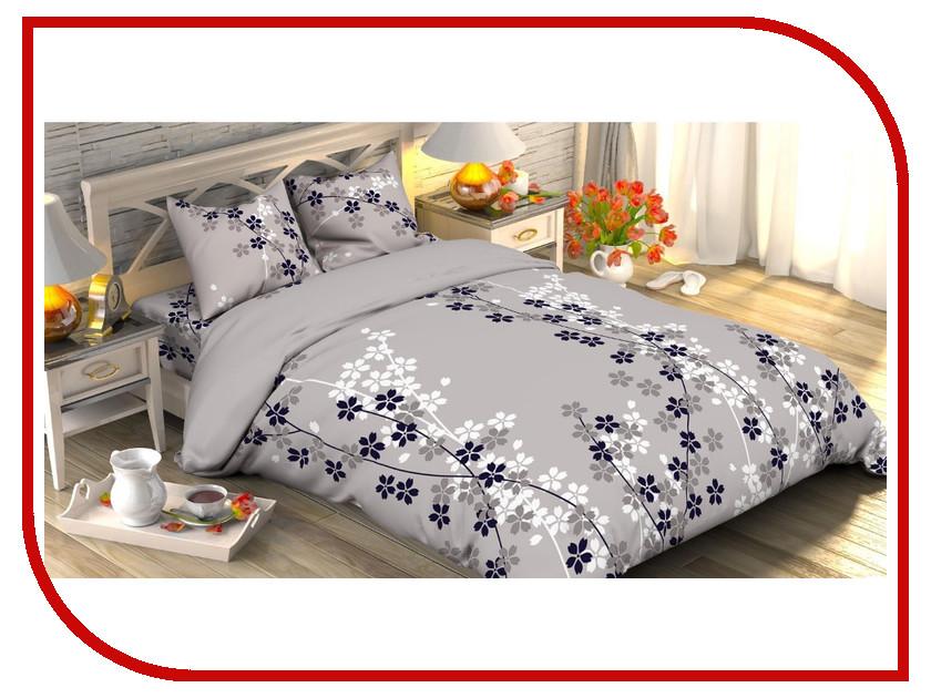 Постельное белье Этель Черничные ночи вид 2 Комплект 1.5 спальный Поплин 1534729