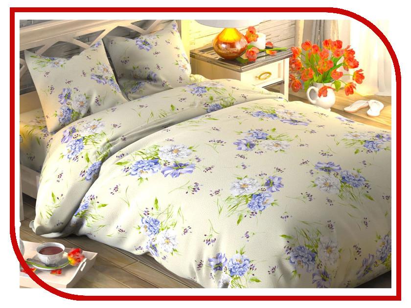 Постельное белье Этель Садовые цветы Комплект 1.5 спальный Поплин 1444224 садовые камни