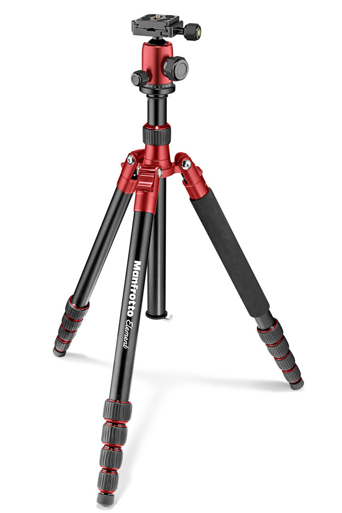 Штатив Manfrotto Element Traveller Red MKELEB5RD-BH штатив manfrotto element traveller red mkeles5rd bh
