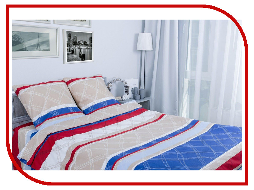 Постельное белье Этель Морской бриз Комплект 1.5 спальный Поплин 1154315