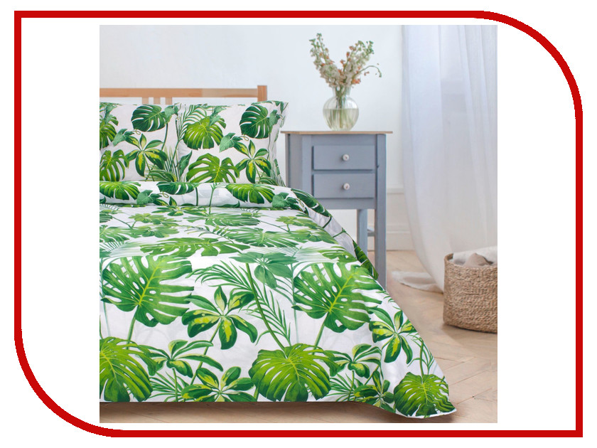 Постельное белье Этель Монстера Комплект 1.5 спальный Поплин 1534705