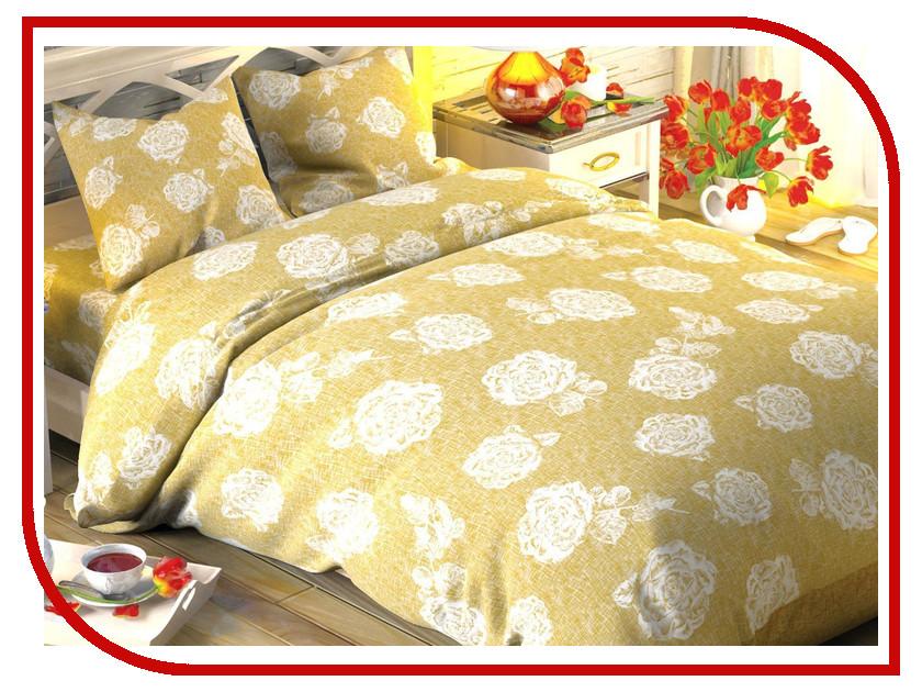 Постельное белье Этель Кремовая роза Комплект 1.5 спальный Поплин 1504612