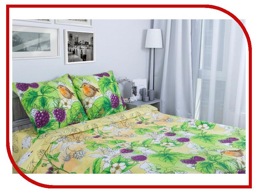 Постельное белье Этель Ежевика Комплект 1.5 спальный Поплин 1154323 постельное белье этель ежевика комплект дуэт поплин 1154371