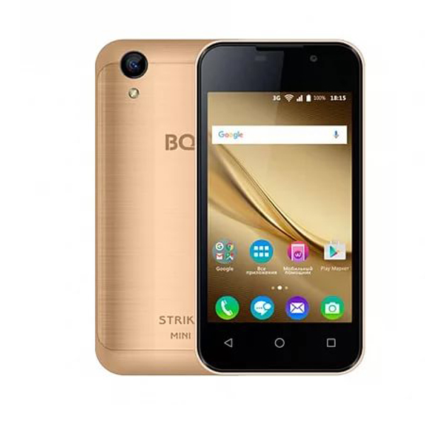 Сотовый телефон BQ 4072 Strike Mini Gold Brushed смартфон bq bq 4072 strike mini blue