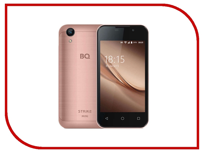 Сотовый телефон BQ 4072 Strike Mini Rose Gold Brushed смартфон bq mobile bq 4072 strike mini red