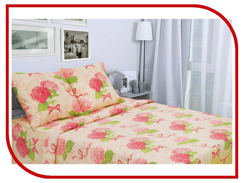 Постельное белье Этель Гортензия вид 2 Комплект 1.5 спальный Поплин 1154316