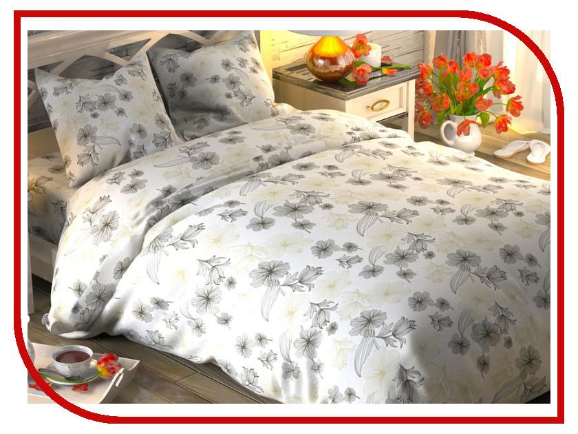 Постельное белье Этель Цветочная вуаль Комплект 1.5 спальный Поплин 1444217