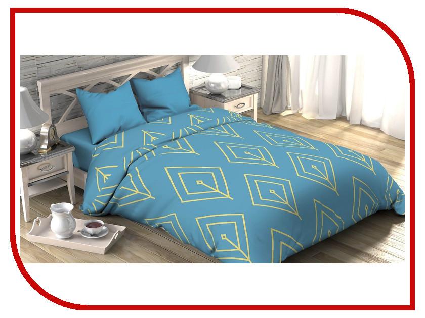 Постельное белье Этель Бирюзовый лепесток Комплект 1.5 спальный Поплин 2565798
