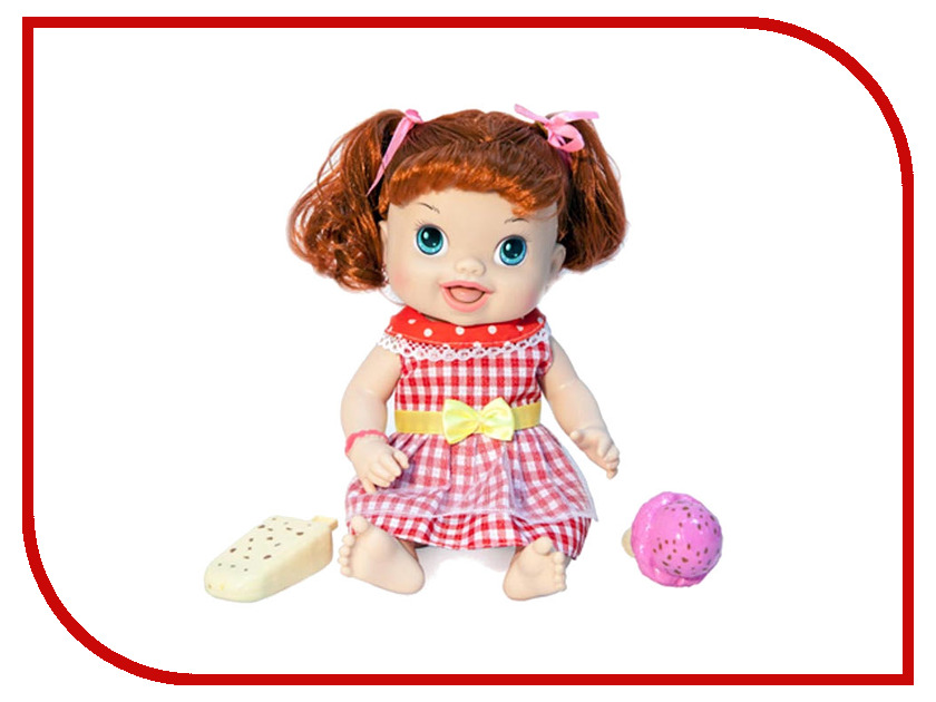 Кукла 1Toy Кукла с мороженым Лакомка Лиза рыжая с хвостиками Т10375 1toy 1toy кукла лакомка лиза с мороженым красноволосая с хвостиками 36 см