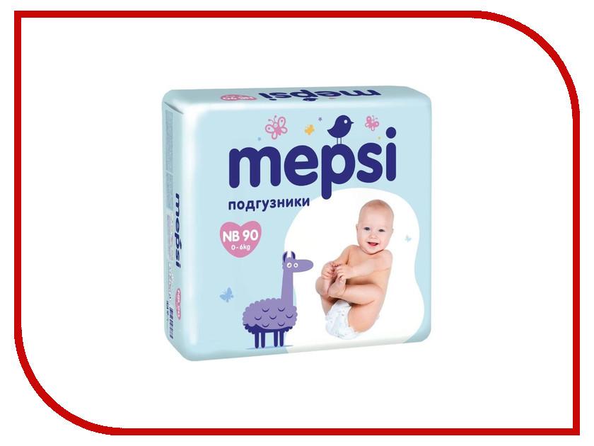 Подгузники Mepsi с рельефным слоем NB до 6кг 90шт