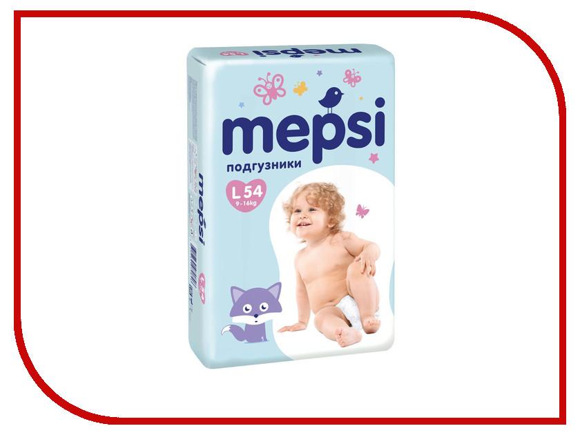 Подгузники Mepsi с рельефным слоем L 9-16кг 54шт mepsi подгузники 4 9 кг 54 шт