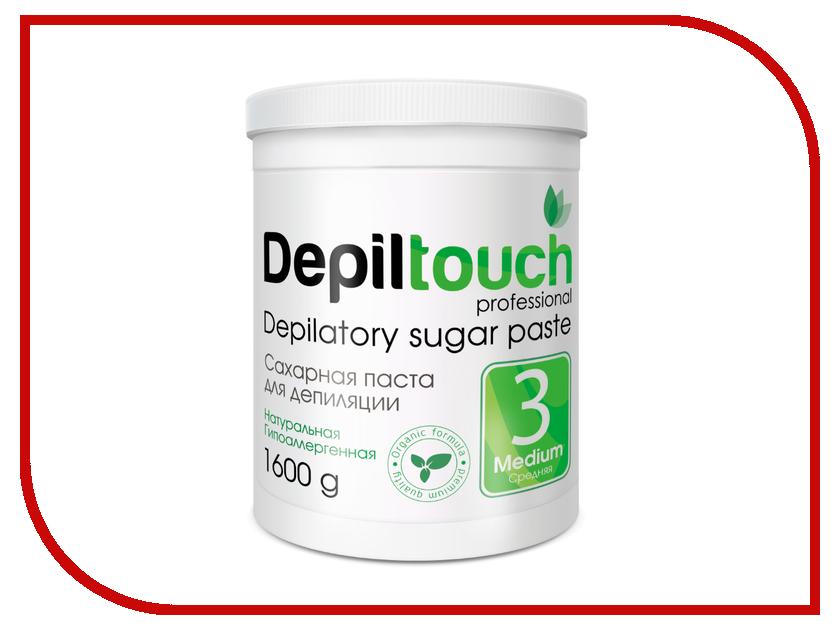 Домашний шугаринг Depiltouch Professional Сахарная паста Средняя 1600гр 87715 шугаринг вельвет купить