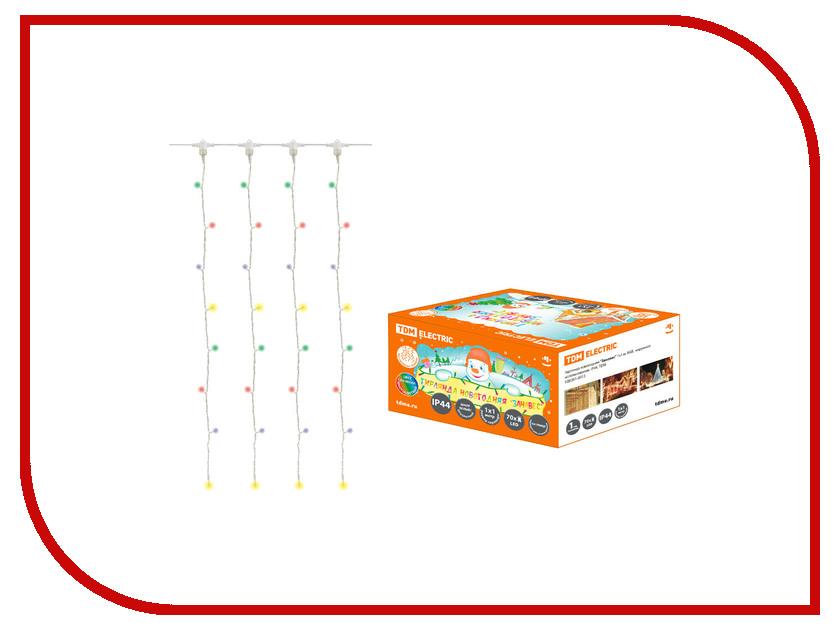 Гирлянда TDM-Electric Занавес 1x1m RGB SQ0361-0013 ад12 tdm sq0204 0013 дифавтомат