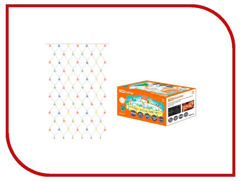 Гирлянда TDM-Electric Сеть 1.5x1.5m RGB SQ0361-0019 фотореле tdm фрл 11 sq0324 0019