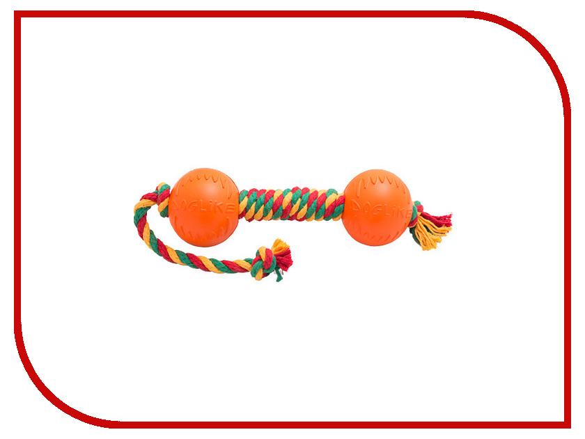 Игрушка Doglike Гантель канатная большая Yellow-Green-Red