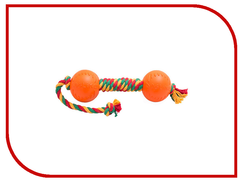 Игрушка Doglike Гантель канатная средняя Yellow-Green-Red