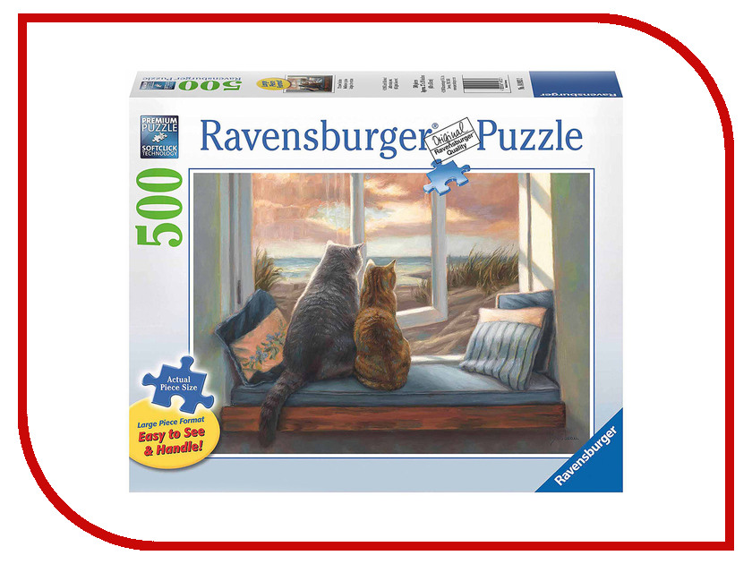Пазл Ravensburger Друзья у окна 14903 ravensburger пазл друзья у окна 500 деталей
