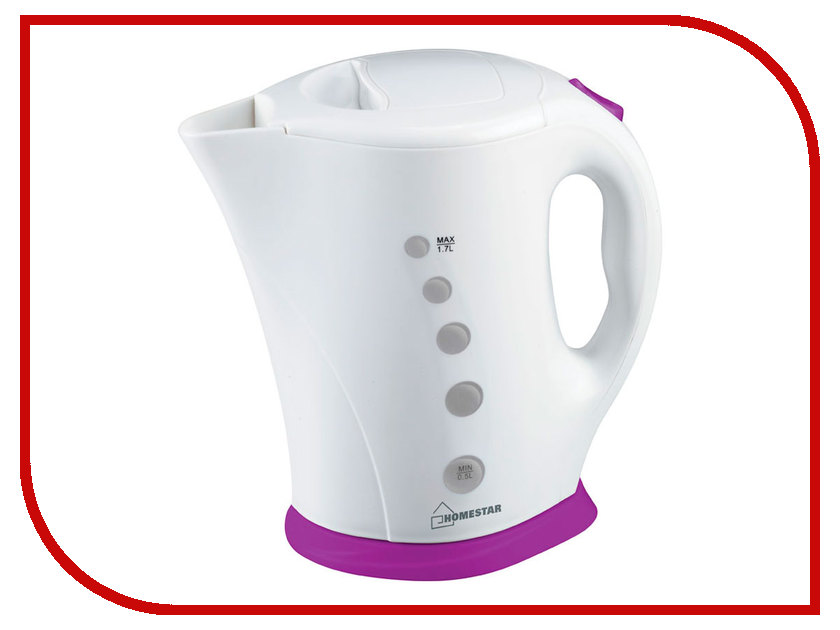 Чайник Homestar HS-1005 White-Purple