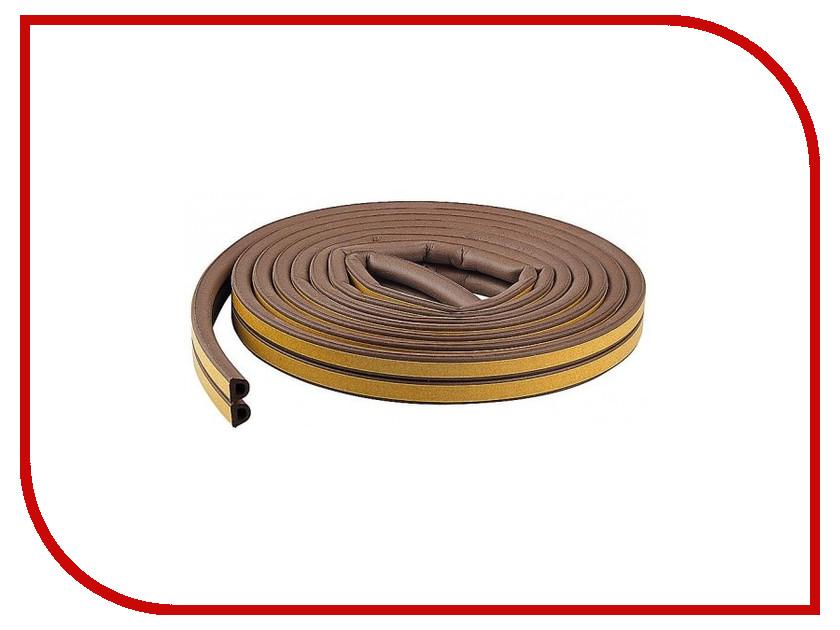 Уплотнитель для окон Е-профиль (резиновый) на клейкой основе Brown 10м 50-3-213 уплотнитель резиновый для тойота хайс