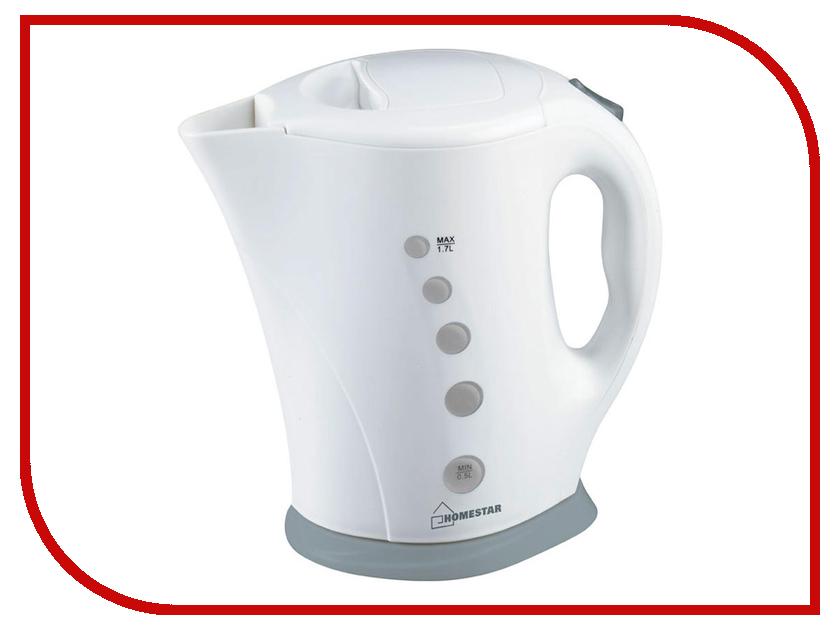 Чайник Homestar HS-1005 White-Grey измельчитель homestar hs 2007 1л 300вт