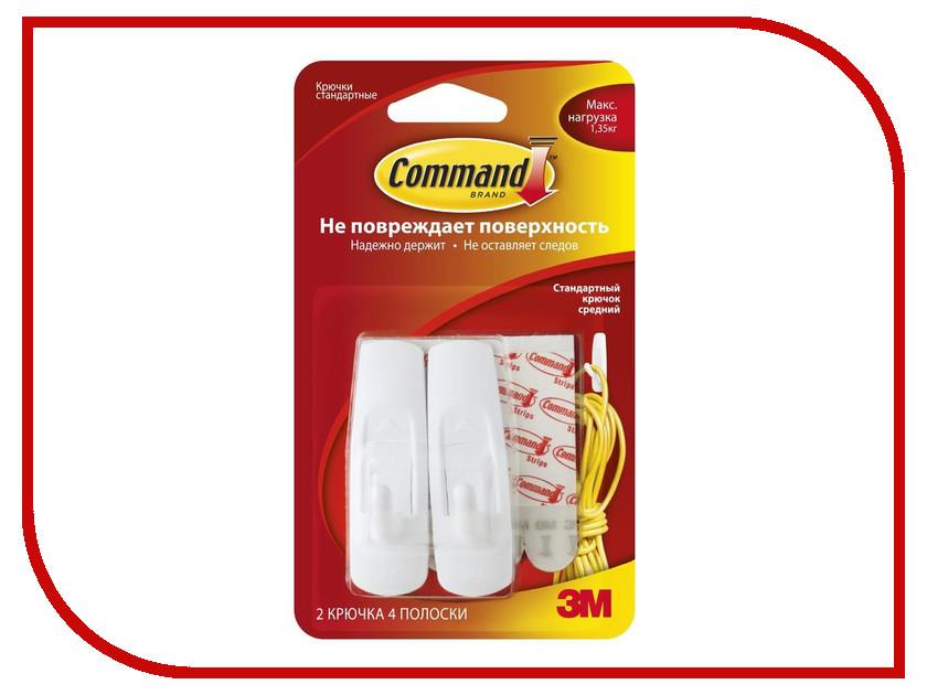 Крючок Command (2 шт) White 17001/131619 набор крючков самоклеящихся command 17001 2 шт