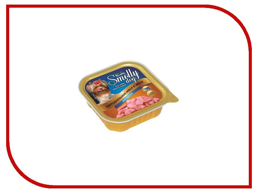 Корм Зоогурман Смолли Дог Телятина 100г для собак 8733 зоогурман консервы для собак зоогурман спецмяс деликатес желудочки куриные 250 г