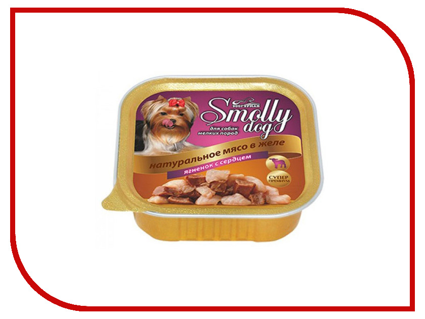 Корм Зоогурман Смолли Дог Ягненок с сердцем 100г для собак 8726 корм зоогурман говядина с сердцем 750г для собак 15896 2755