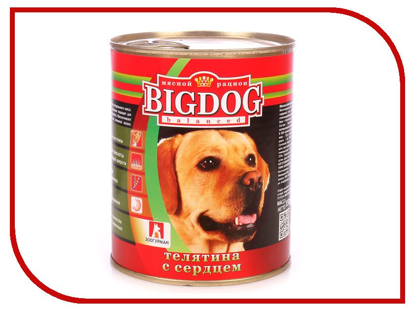 Корм Зоогурман Биг Дог Телятина с сердцем 850г для собак 0256 корм зоогурман говядина с сердцем 750г для собак 15896 2755