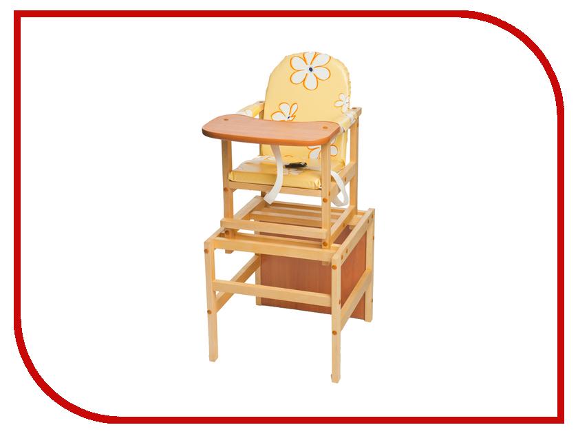 Стул ПМДК Октябренок Ромашки Yellow 00000045541 стул трансформер для кормления октябренок ромашки зеленый