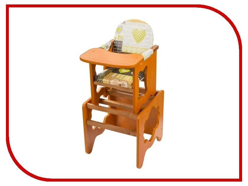 Стул ПМДК Премьер Сердце Орех 00000668694 стул трансформер для кормления пмдк премьер полянка светлый орех