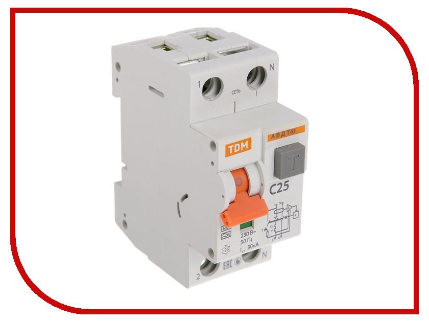 Дифференциальный автомат TDM-Electric АВДТ 63 C25 30мА SQ0202-0004