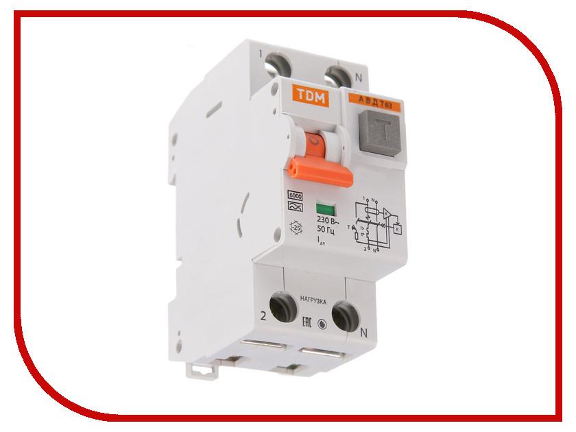 Дифференциальный автомат TDM-Electric АВДТ 63 C40 30мА SQ0202-0006 изолятор tdm sq0810 0006