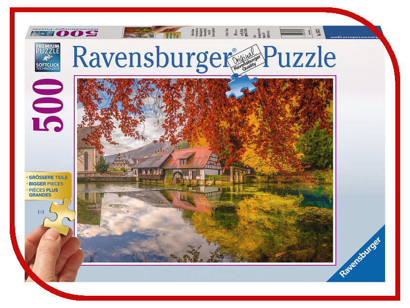 Пазл Ravensburger Тихая мельница 13672 ravensburger пазл тихая бухта 1500 деталей