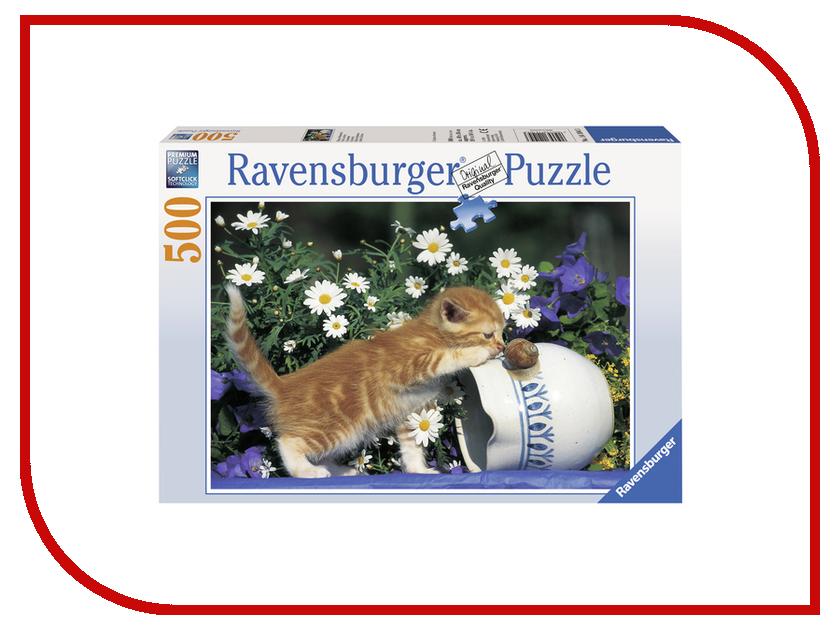 Пазл Ravensburger Любопытный котенок 14104 усатик котенок