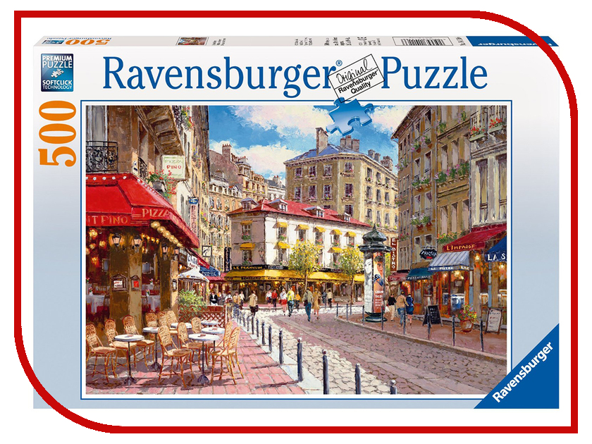 Пазл Ravensburger Кафе в старом городе 14116 ravensburger пазл кафе в старом городе 500 деталей