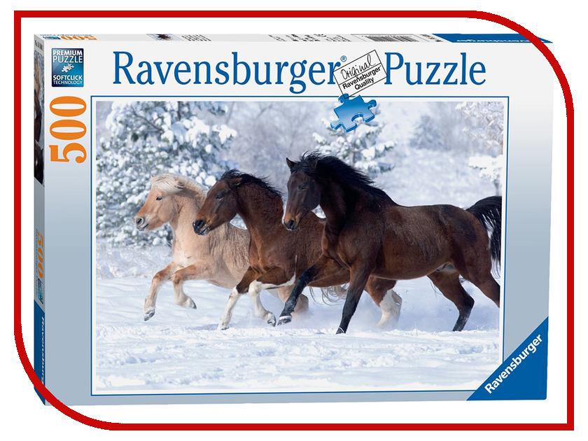 Пазл Ravensburger Галопом по снегу 14140 пазл галопом по снегу 500 шт