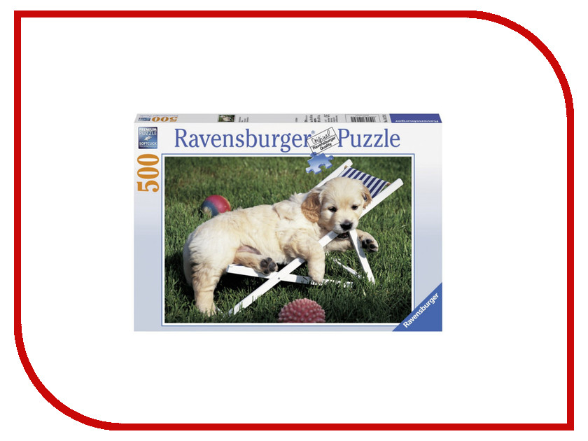 Пазл Ravensburger Щенок золотистого ретривера 14179 ravensburger картина по номерам щенок ретривера