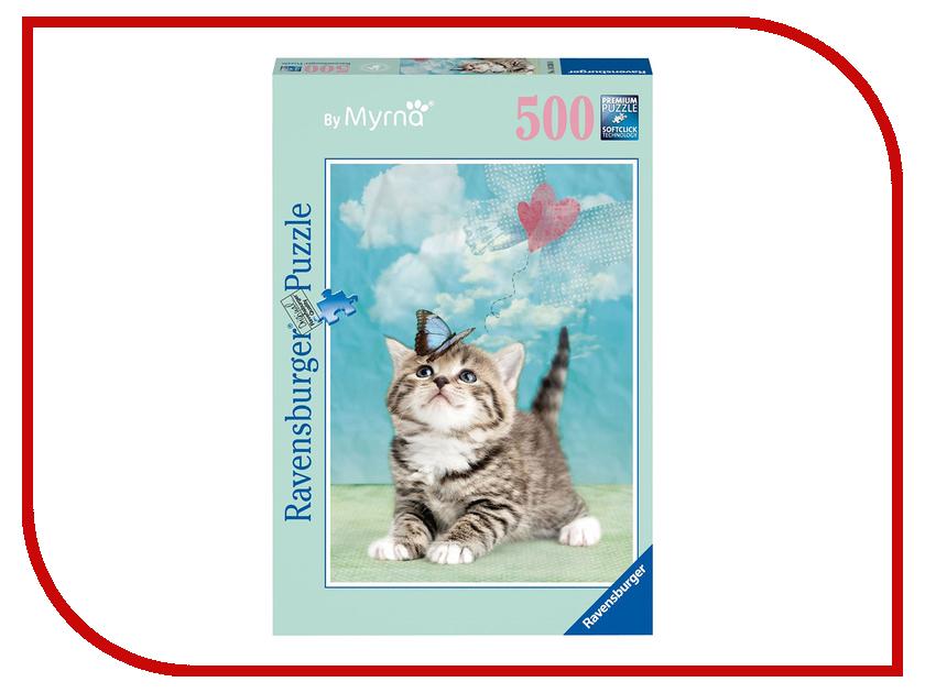 Пазл Ravensburger Котенок с бабочкой 14336 усатик котенок
