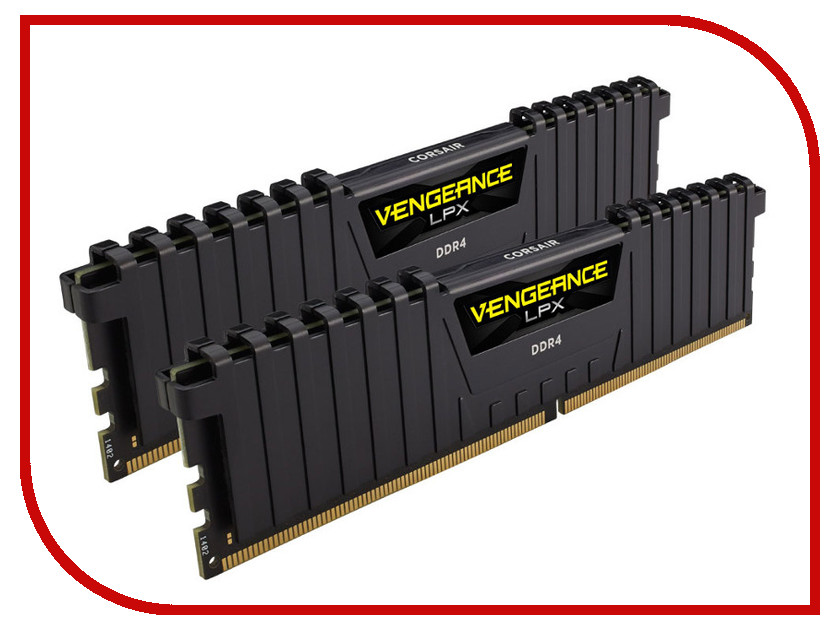 Модуль памяти Corsair Vengeance LPX DDR4 DIMM 3200MHz PC4-25600 CL16 - 32Gb KIT (2x16Gb) CMK32GX4M2B3200C16 модуль памяти corsair vengeance lpx cmk32gx4m4b3733c17r ddr4 4x 8гб 3733 dimm ret