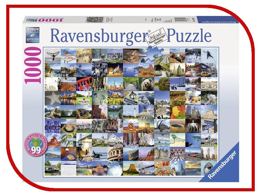 Пазл Ravensburger 99 красивых мест Америки и Канады 19709 1000 шт