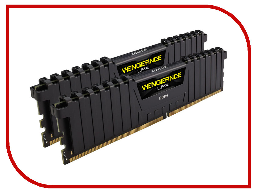 Модули памяти CMK32GX4M2D3200C16  Модуль памяти Corsair Vengeance LPX DDR4 DIMM 3200MHz PC4-25600 CL16 - 32Gb KIT (2x16Gb) CMK32GX4M2D3200C16
