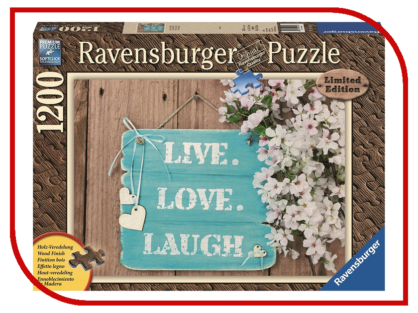 Пазл Ravensburger Живи люби смейся 19913 фишер прайс смейся и учись столик