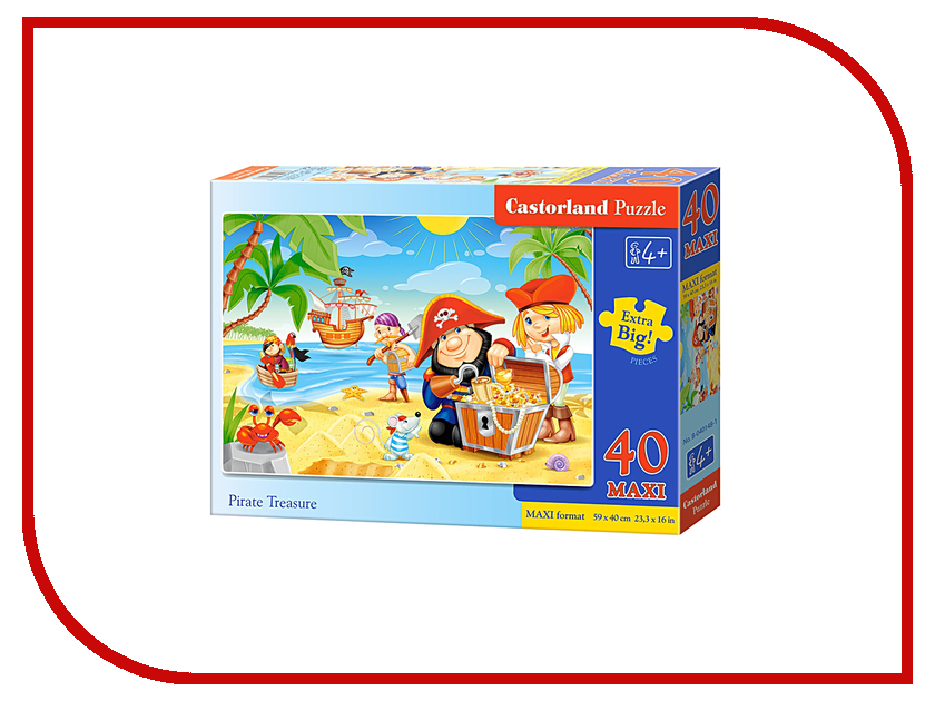 Пазл Castorland MAXI Пиратские сокровища Puzzle-40 B-040148