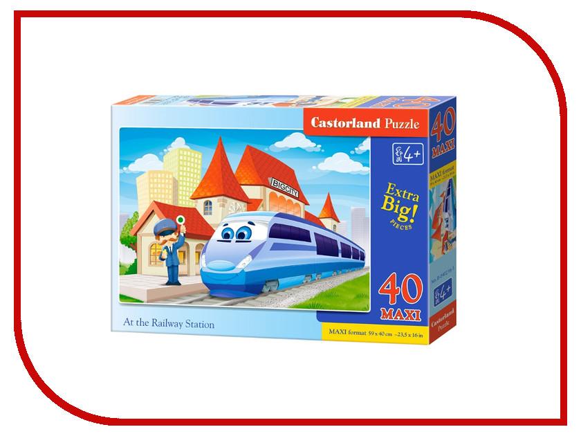 Пазл Castorland MAXI На вокзале Puzzle-40 C-040216 castorland пазл дюймовочка 4 в 1