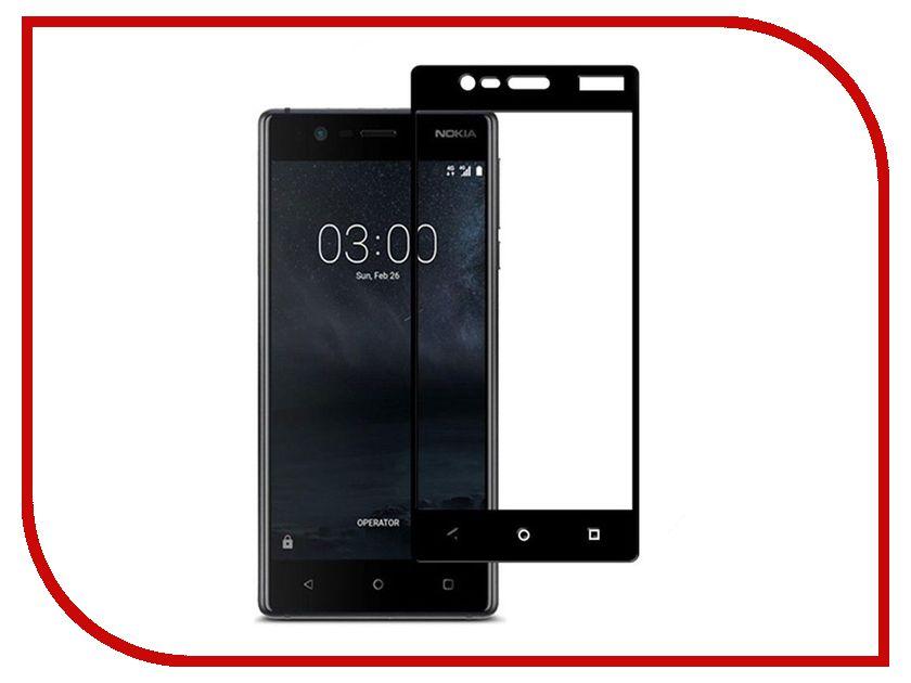 Аксессуар Защитное стекло Nokia 3 BoraSCO Full Cover Black аксессуар защитное стекло meizu u10 borasco 0 2mm